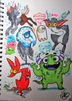 Monsters doodle by AgentCookie-B