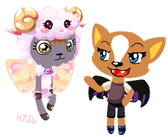 Tiny colorful critter girlfriends by Hiilumaru