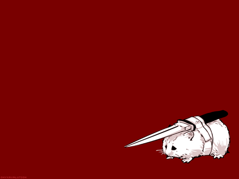Fighting Hamster Wallpaper by OnyxAvalution