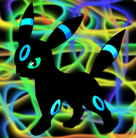 Shiny Umbreon by krzr4yall