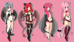 Adoptables Demon girls  -OPEN NO MORE BID'S!- by Anini-Chu