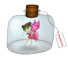 Bottled Fairy with Igglypuff Chibi by SwanofWar