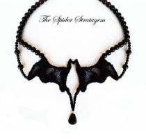 New Gothic bat necklace by TheSpiderStratagem