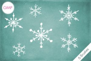 GIMP Snowflakes Brushes by byjanam