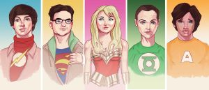 big bang theory coloured by peatman2020