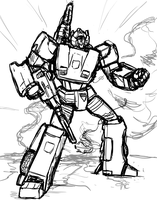 Sideswipe Action Sketch by Laserbot