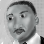 Martin Luther King Jr by afuzzyonion
