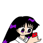 Rei Hino playing Pokemon GO by MarcosPower1996