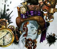 Steampunk Self Portrait by blacktigressassassin