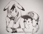 Pikachu and Ash by MrCryCraft
