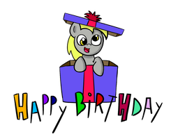 Derpy Birthday Box by Xylophon