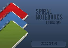 Spiral Notebooks by grebtech