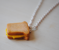 Grilled Cheese Necklace by ClayRunway