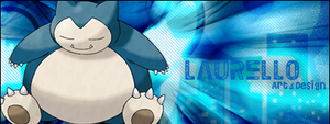 Snorlax Signature Banner by Laurello7