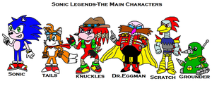 Sonic Legends-the main characters by scifiguy9000