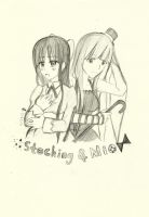 Stocking and Mio- Madelyn291 by ThePentagonDragonK