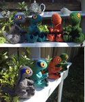 Raptor Squad (pattern included) by fluffydragon0-0