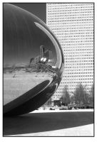 Chicago Mirror Ball Mono by sicklittlemonkey