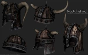 Nordic Helmets - High Poly by iemersonrosa