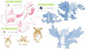 Pokedesigns by Fellduck