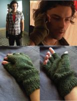 Knit Fingerless Gloves inspired by Mitchell by kateknitsalot