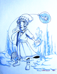 Day 11 - The Ice Witch Cloy by Afroblue72