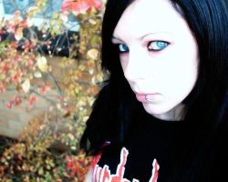 autumn leaves and blue eyes by lacerate666