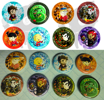 Xiaolin Showdown Buttons by NinjaKitten22