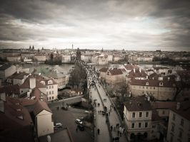 Charles Bridge from above by Alena-G-Photography