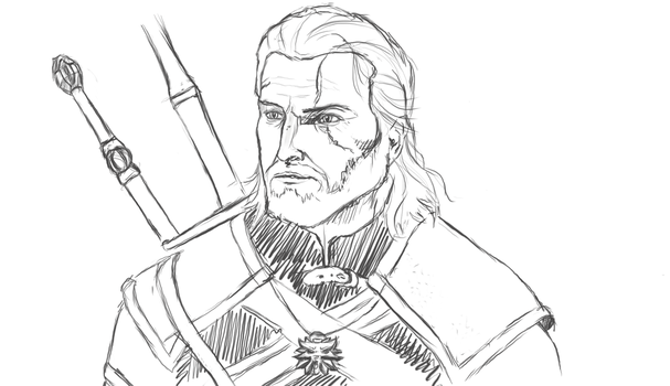 Geralt of Rivia by WhisperingFurry