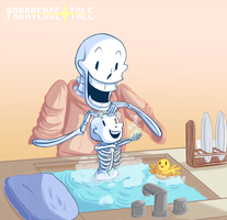 Undertale :: ParaverseTale :: Bath Time by SpaceJacket