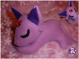 Espeon Plush by PinkuArt