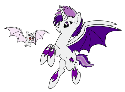 Orchidusk and pet bat copy by mutt2008