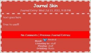 Red and Pink Journal Skin by draw-wiz