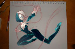 Spider Gwen sketch by warballoon