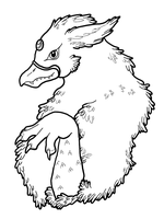 Gryphon Coloring Page by Eclipsed-Soul91