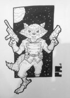 Con Sketch - Rocket Raccoon by superleezard