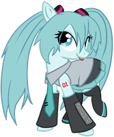 Hatsune Miku Pony by Potates-Chan