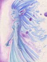 Watercolour paper play by KeyshaKitty