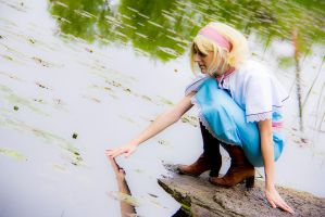 Alice Margatroid 7 - Playing with the water by simakai