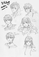 IF: head doodles by chame-su