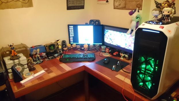 My gaming set up by Bethany-Fox
