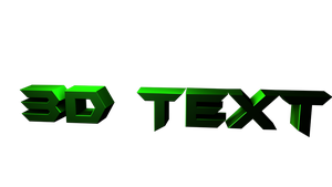 Rendered 3D Text by HpanRBLX
