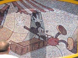 Mosaic - Mickey Mouse by disneyland-stock