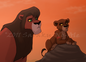 Kovu and Cub Star by The-PirateQueen
