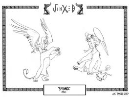 JINXED- Sphinx Poses01 by ElementJax