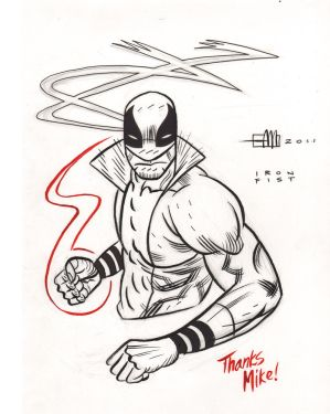 Ironfist Sketch by Andrew-Ross-MacLean