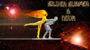 Silver Surfer and Nova cosplay wallpaper by SWFan1977