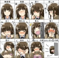 Expressions Anime 3 by Bardi3l