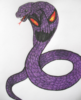Realistic Arbok by DreamDrifter91